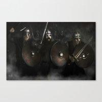 vikings Canvas Prints featuring Vikings by Silvana Massa Art