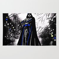 vader Area & Throw Rugs featuring Vader by Saundra Myles