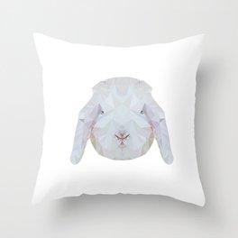 Bunny Portrait Throw Pillow