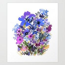 Heavenly Blues and Purples Art Print