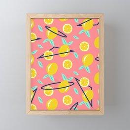 Lemons party #society6 #decor #buyart Framed Mini Art Print