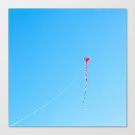 Red Kite In Blue Sky Canvas Print