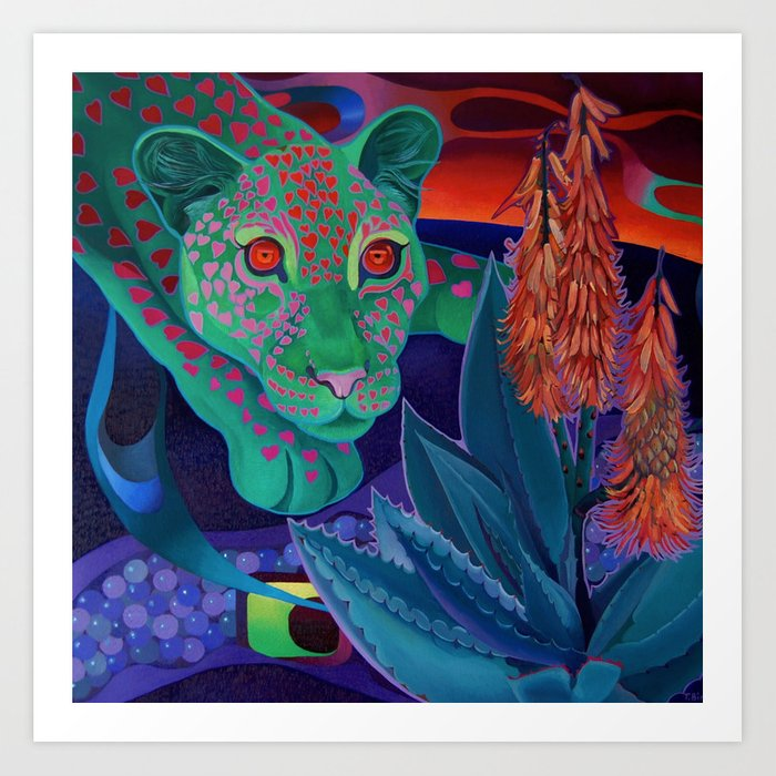 Whispers of the night. Art Print