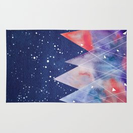 Mountains by night Rug