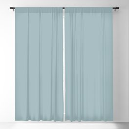 Dark Pastel Blue Solid Color Inspired by Benjamin Moore Buxton Blue HC-149 Blackout Curtain