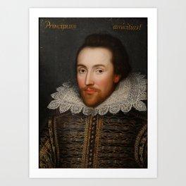Vintage William Shakespeare Portrait Kunstdrucke