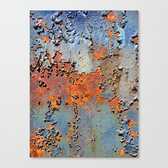 Rusted and Peeling 3 Canvas Print