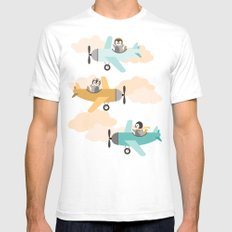 These birds want to fly SMALL Mens Fitted Tee White
