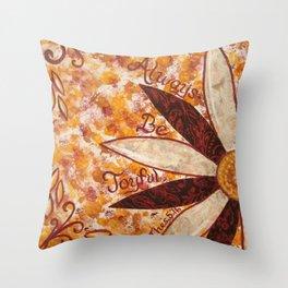Always Be Joyfull Throw Pillow