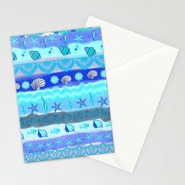 Ocean Theme Zentangle Pattern Stationery Cards