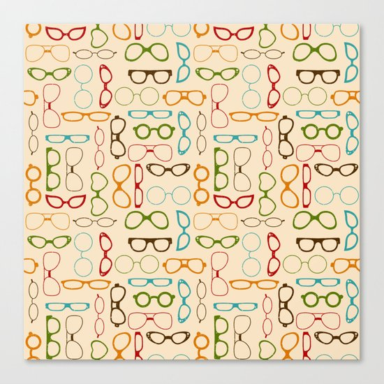Retro glasses Canvas Print