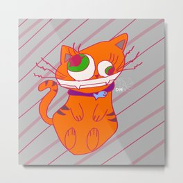 Deranged Cat Metal Print