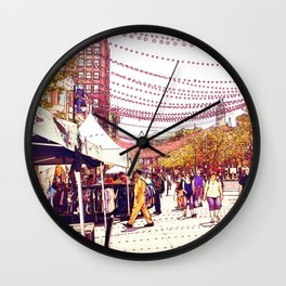 Montreal side street 002 Wall Clock