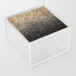 Black & Gold Sparkle Acrylic Box
