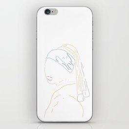 Minimal Vermeer iPhone Skin