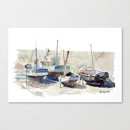 Quatre Bateaux de Pêche - Le Croisic Canvas Print