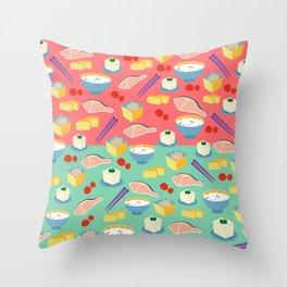 Japanese 'Gohan'!! Throw Pillow