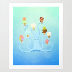 Ice Cream Power Art Print