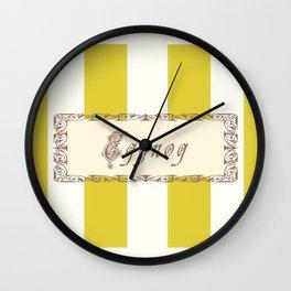 Eggnog Antique Wall Clock