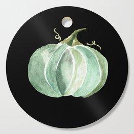 Blue Watercolor Pumpkin on Black Cutting Board