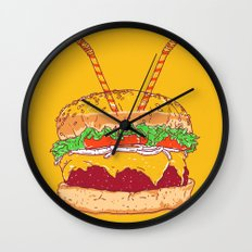 Burger for two Wall Clock