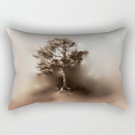 Misty Tree of Life on the Coastal Edge Rectangular Pillow