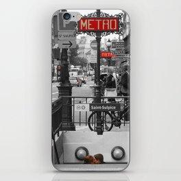 Paris Metro Kiss iPhone Skin