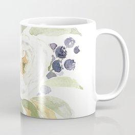 Watercolor Flowers with Blueberries Coffee Mug
