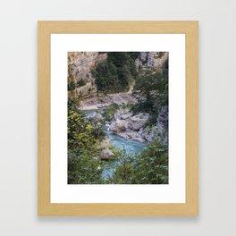 Walking by the river Framed Art Print