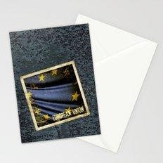Grunge sticker of European Union flag Stationery Cards
