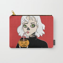 Skeleton Girl Carry-All Pouch