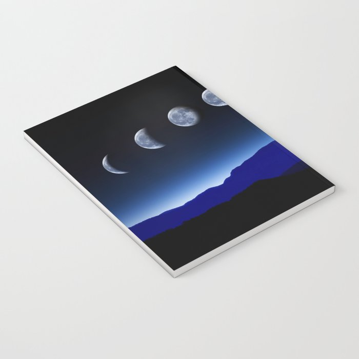 Moon Phases #blue Notebook