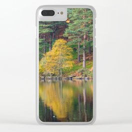 Autumn lake view (RR 174) Clear iPhone Case