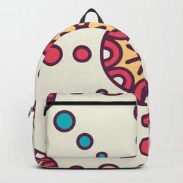 Bursting Circles Boho Design Backpack