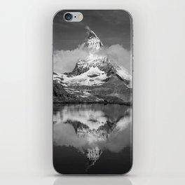 Cloudy Matterhorn B&W iPhone Skin