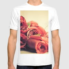 A Dozen Roses Please Mens Fitted Tee White MEDIUM