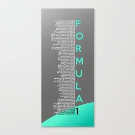 Formula 1 Champions - Mercedes AMG Petronas F1 Team 2013 edition Canvas Print