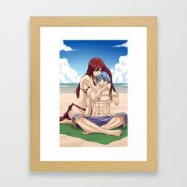 Warm Scarlet Framed Art Print