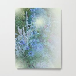 Blue Cone Flowers Metal Print