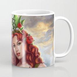 Steampunk Poison Ivy and Batgirl Coffee Mug