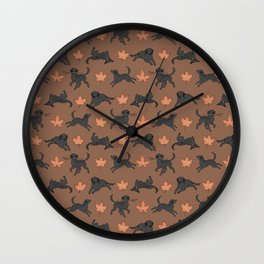 Black Lab Love Wall Clock