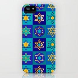 Hanukkah Holidays Elegant Star of David Pattern iPhone Case