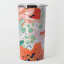 Orange Lily Travel Mug