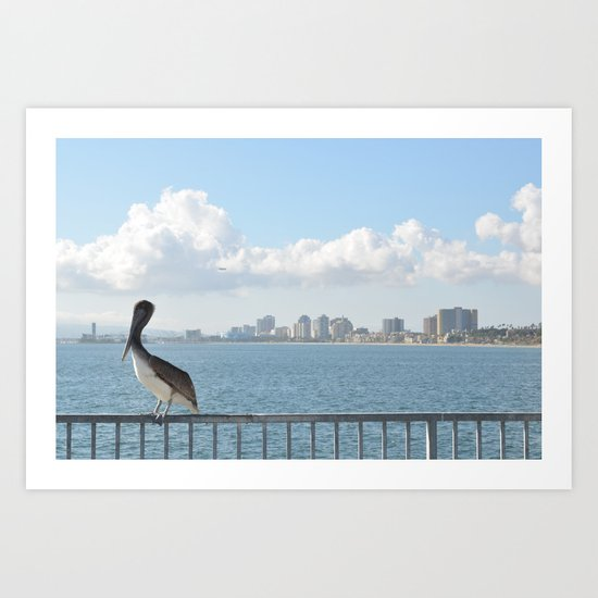 Seaside City Harmony Art Print