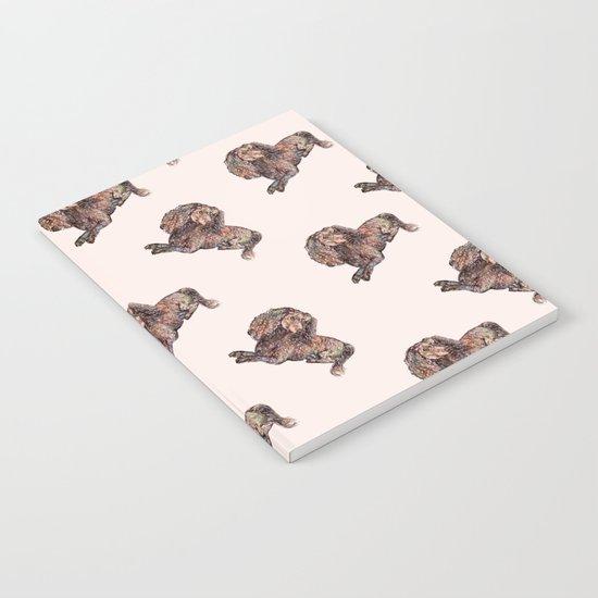 Dog Pattern 2 on Girly Pink Notebook