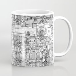 Edinburgh toile black white Coffee Mug