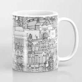Edinburgh toile black white Coffee Mug