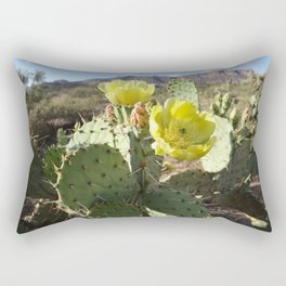 Prickly Pear Flowers Rectangular Pillow