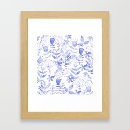Abstract Botanical Garden III Framed Art Print