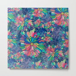 Flower Burst Metal Print